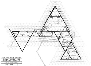 Fractal geometry in the late work of frank lloyd wright for Triangle concept architecture